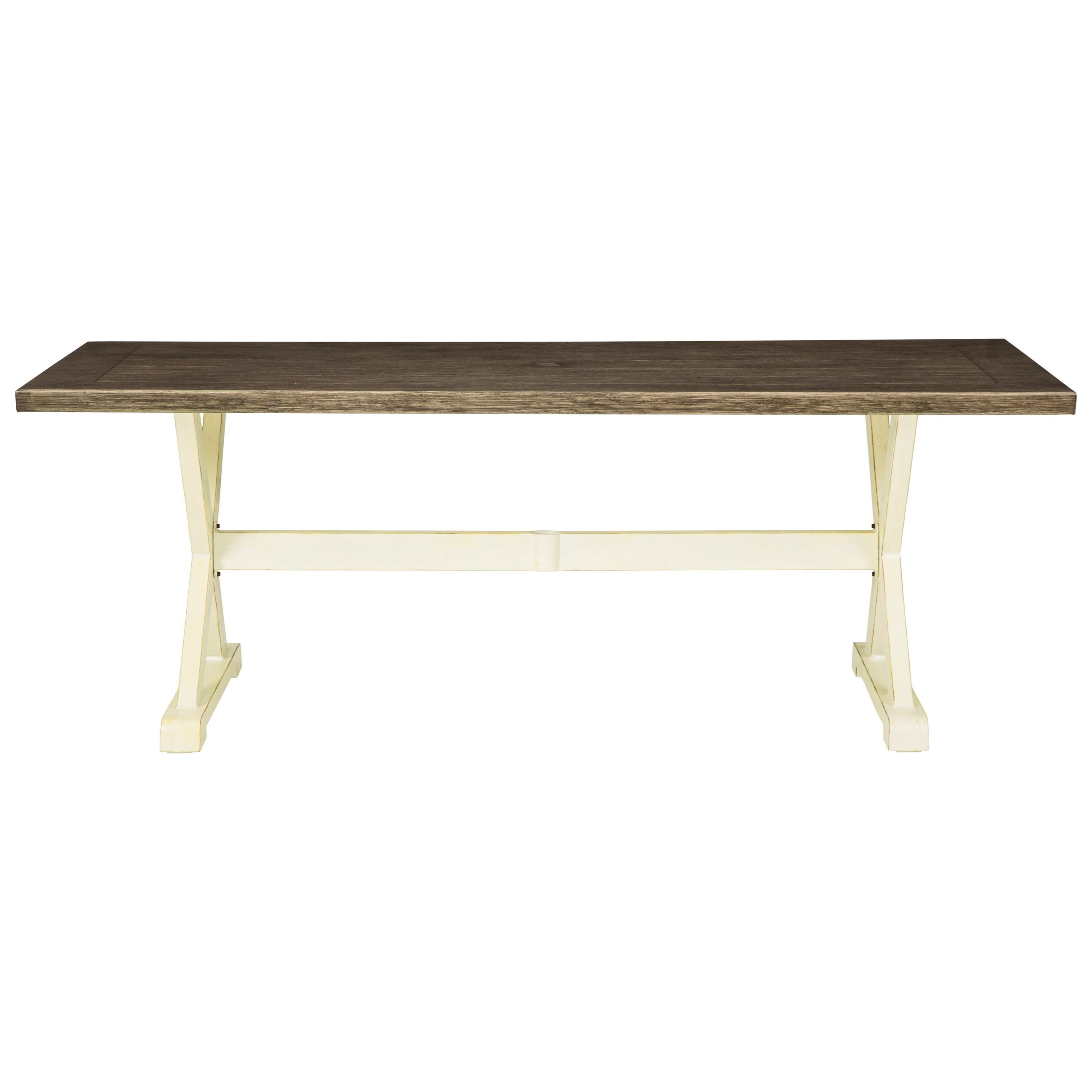 Preston Bay Rectangular Dining Table w/ Umbrella Option by Signature Design by Ashley at Houston's Yuma Furniture