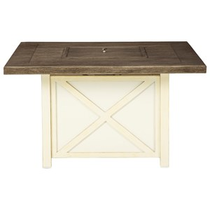 Farmhouse Style Square Fire Pit Table