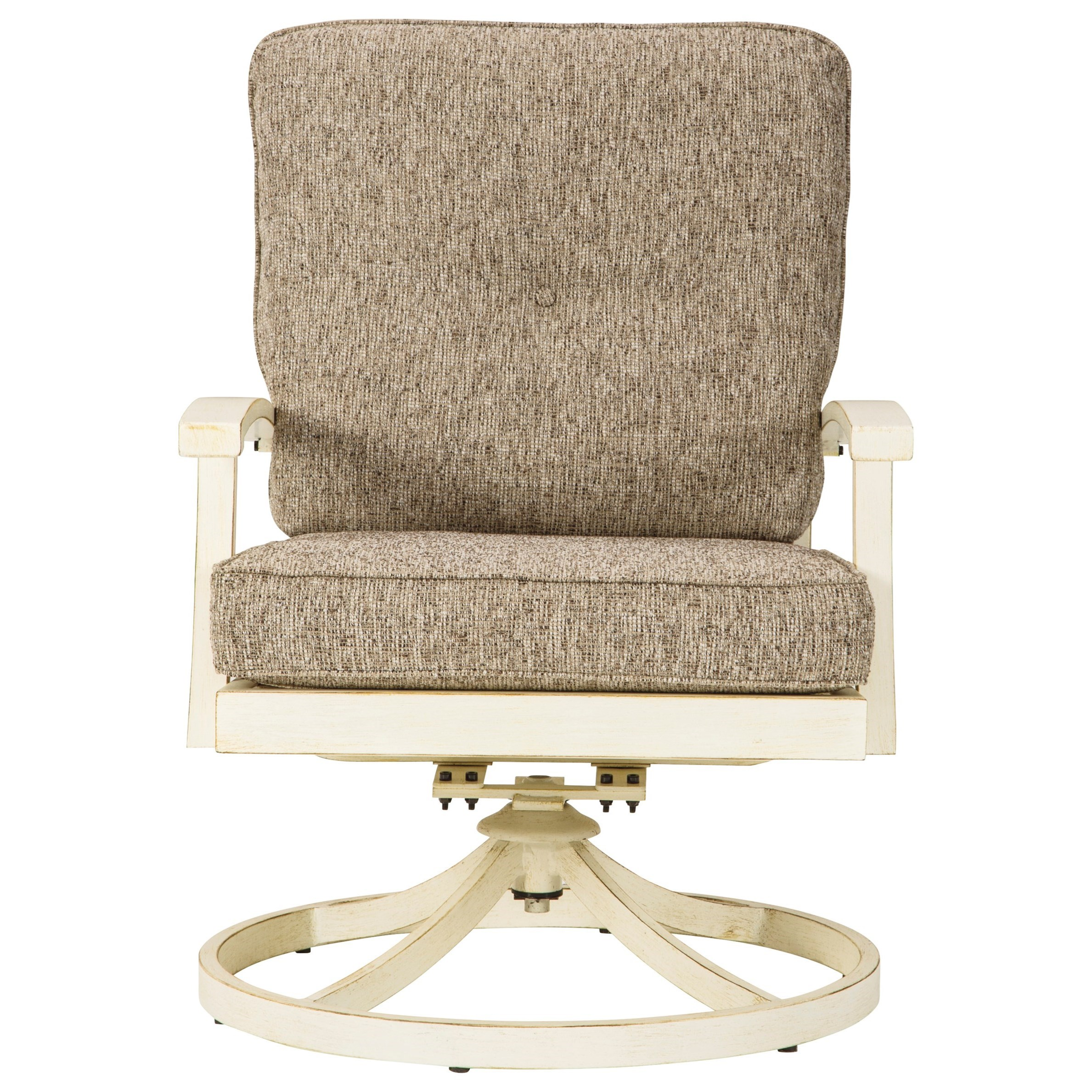 Preston Bay Set of 2 Swivel Lounge Chairs with Cushions by Signature Design by Ashley at Miller Waldrop Furniture and Decor