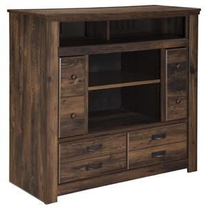 Rustic Media Chest with Doors
