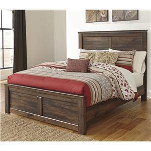 Queen Panel Bed with Low-Profile Footboard