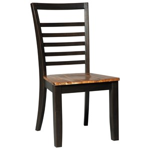 Contemporary Dining Side Chair with Ladderback