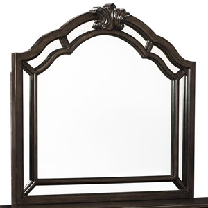 Rich Brown Bedroom Mirror