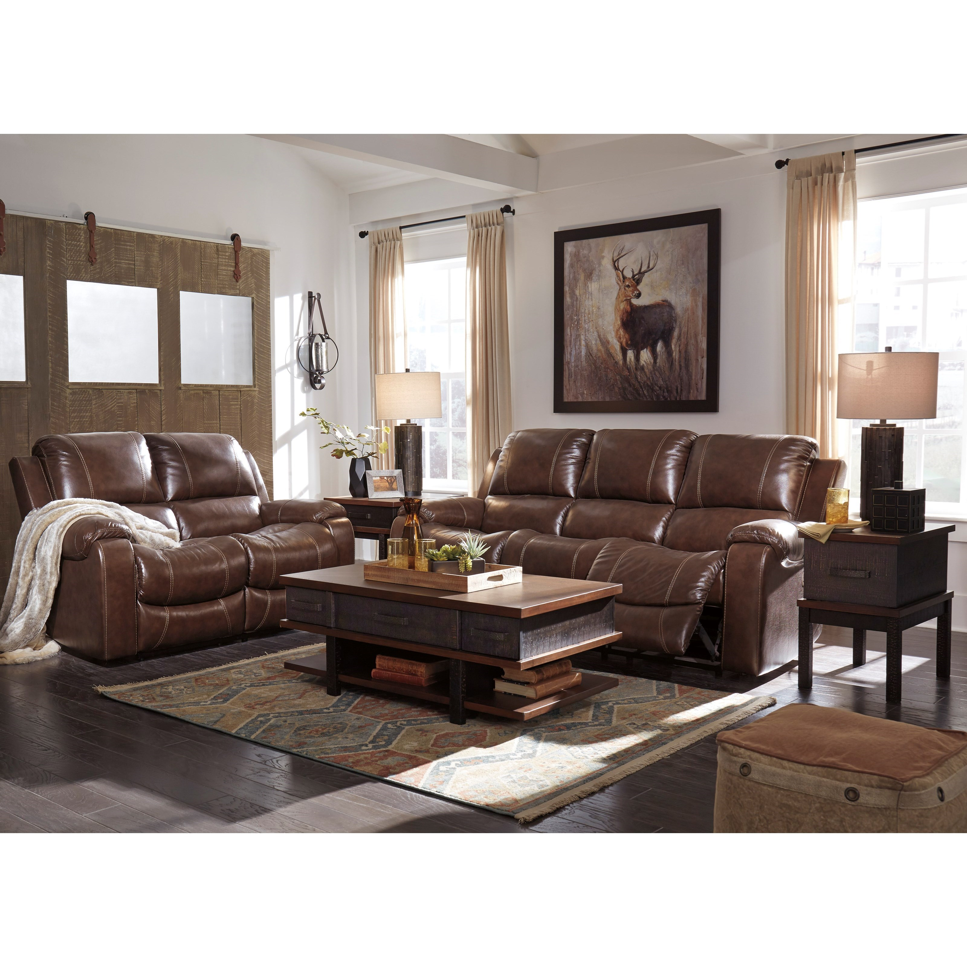 Rackingburg Reclining Living Room Group by Signature Design by Ashley at Northeast Factory Direct