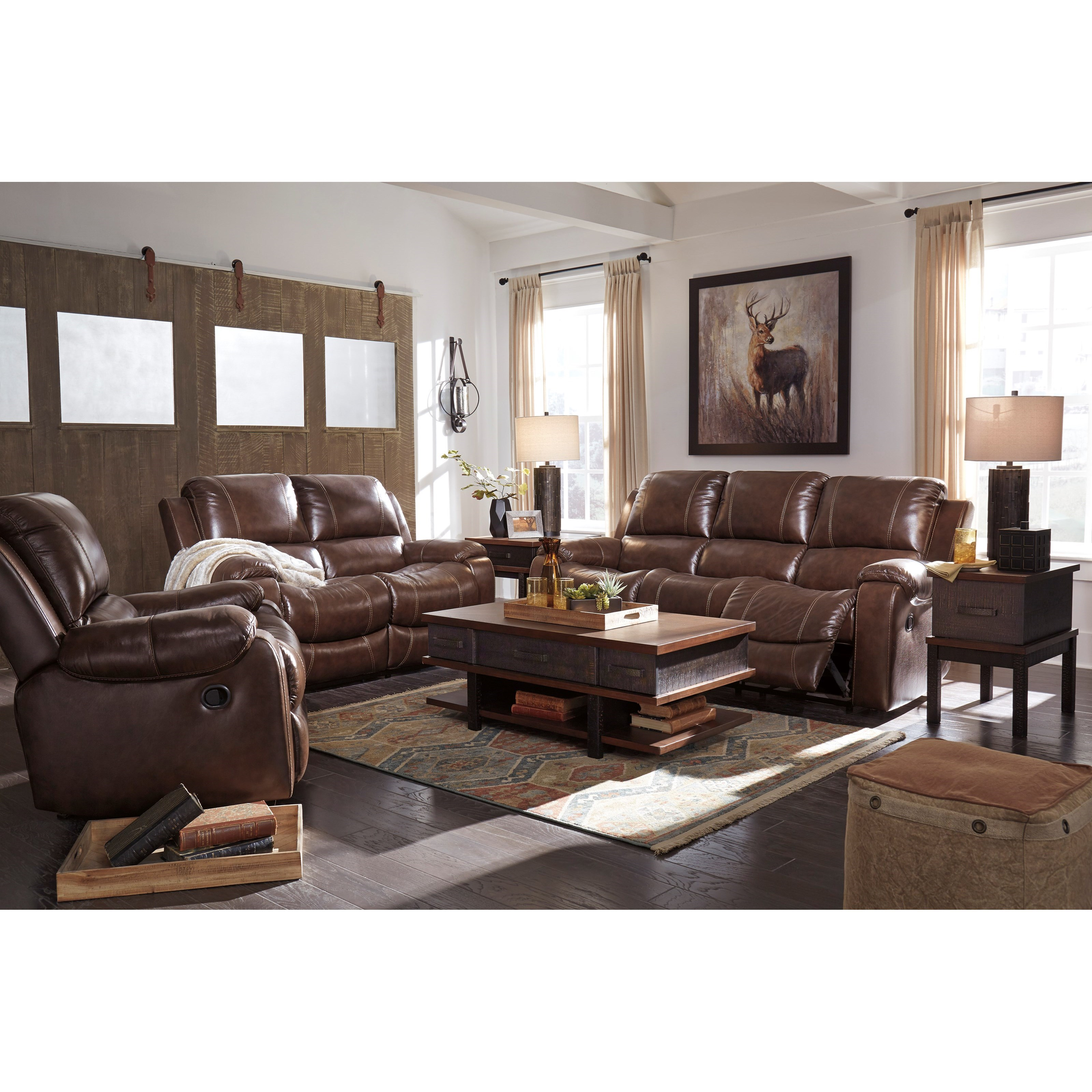 Rackingburg Reclining Living Room Group by Signature Design by Ashley at Household Furniture