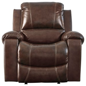 Power Rocker Recliner with Bustle Back