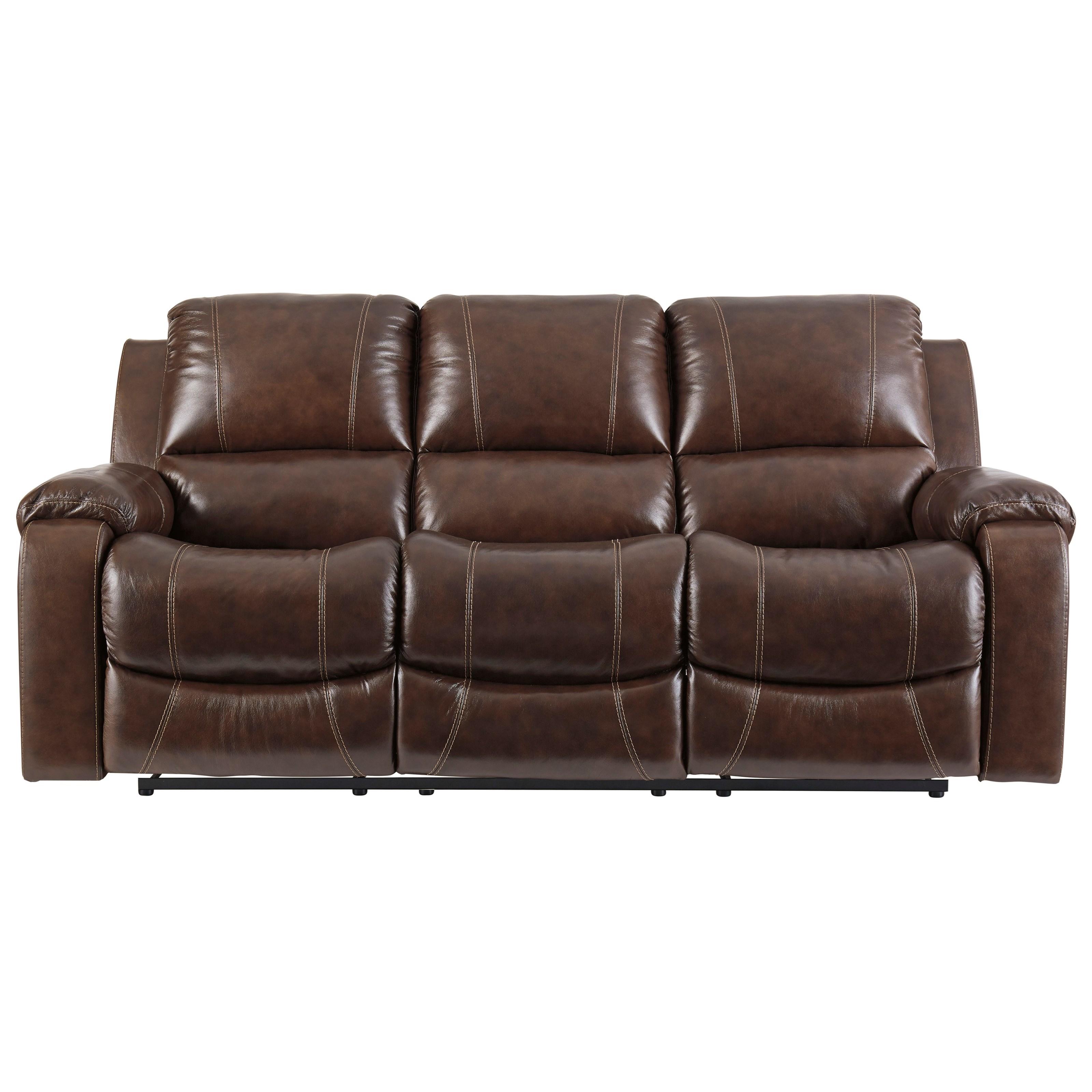 Rainier Reclining Sofa by Signature at Walker's Furniture