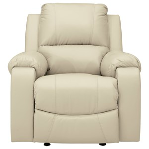 Rocker Recliner with Bustle Back