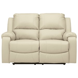 Reclining Power Loveseat with Bustle Backs