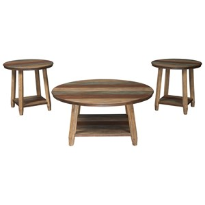 Rustic 3-Piece Occasional Table Set