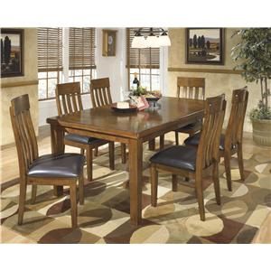 Casual 7-Piece Dining Set with Butterfly Extension Leaf