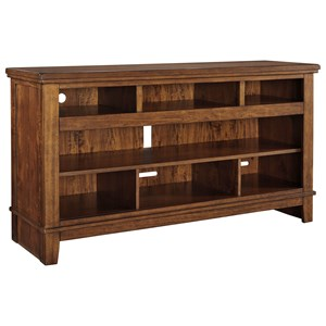 Contemporary Extra Large TV Stand with Acacia Veneer