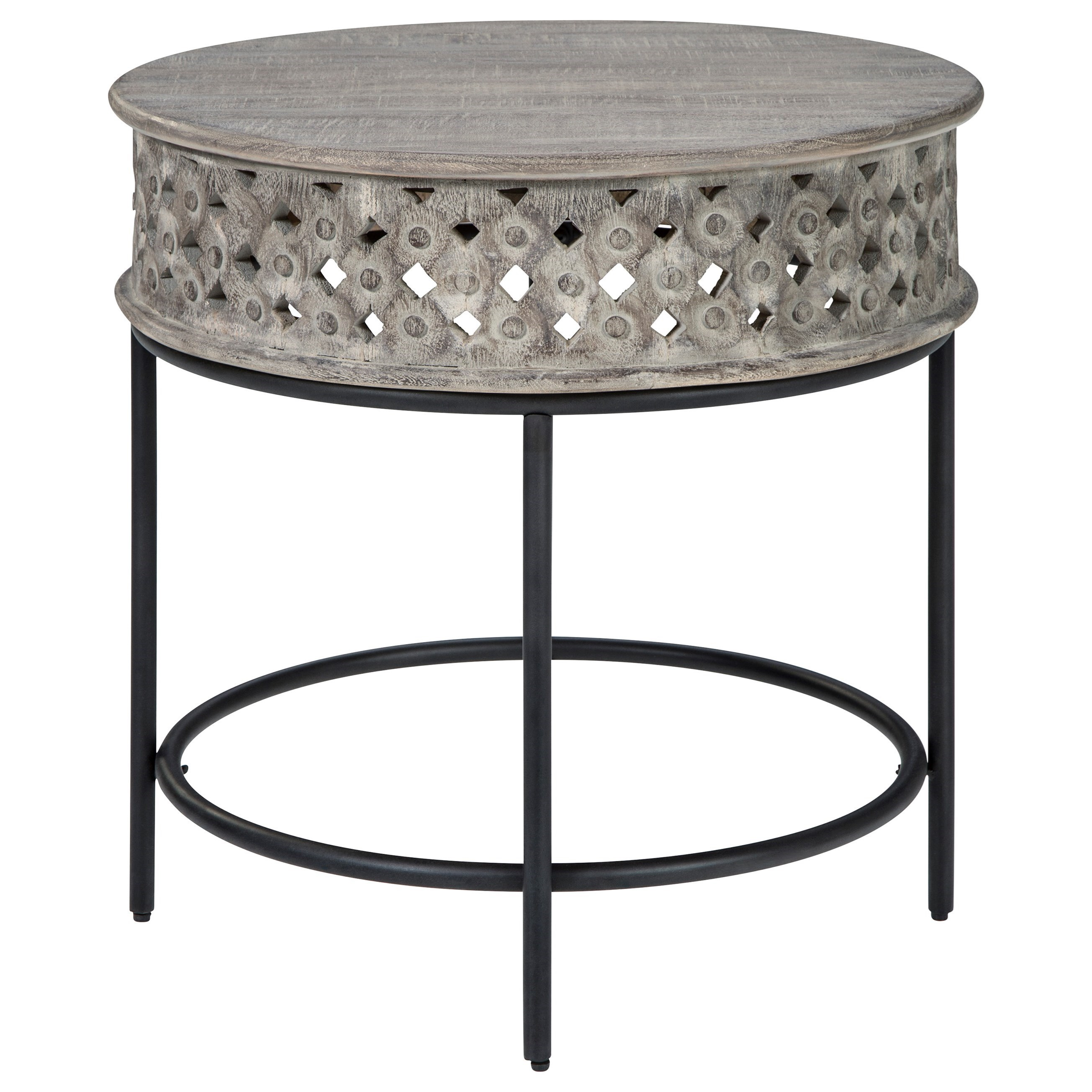 Rastella Round End Table by Signature Design by Ashley at Value City Furniture