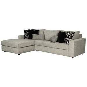 Contemporary 3-Seat Sectional Sofa with LAF Chaise and Memory Foam Sleeper Mattress