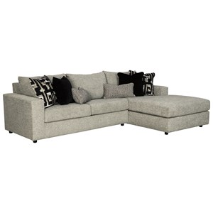 Contemporary 3-Seat Sectional Sofa with RAF Chaise