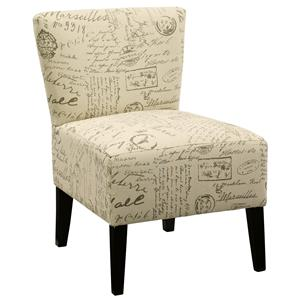 Slipper Style Accent Chair