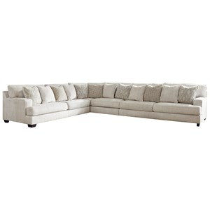 4-Piece Sectional with Scatterback Accent Pillows