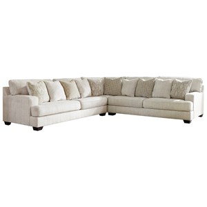 3-Piece Sectional with Scatterback Accent Pillows