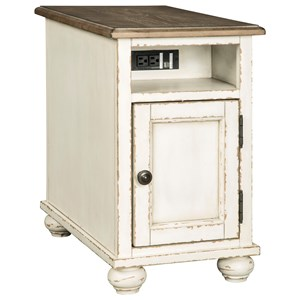 Cottage Chairside End Table with USB Ports