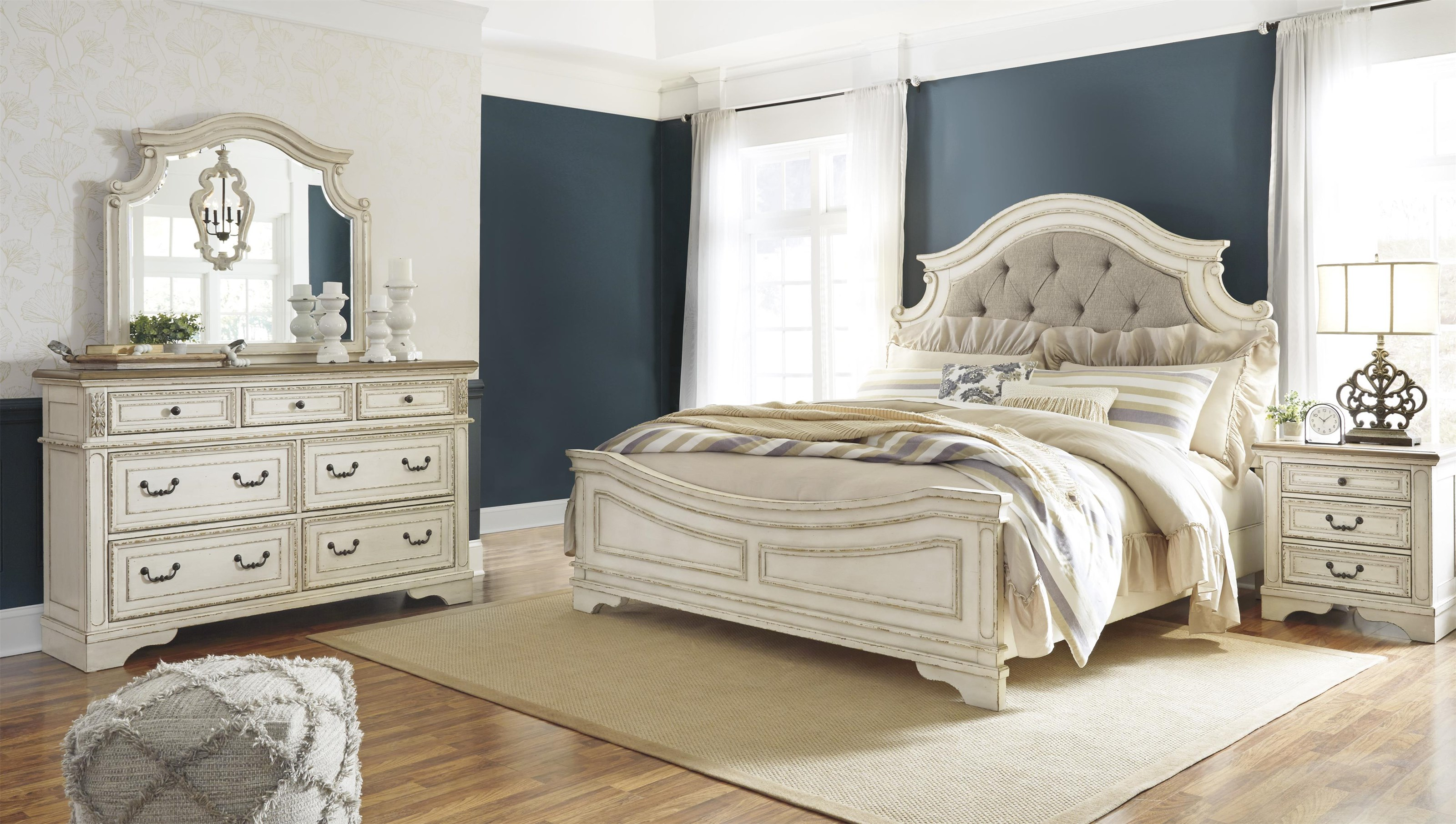 Realyn King UPH Panel Bed Package by Signature Design by Ashley at Sam Levitz Outlet