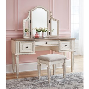 Vanity/Mirror/Stool Set