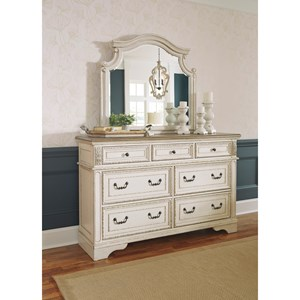 7 Drawer Dresser and Mirror Set