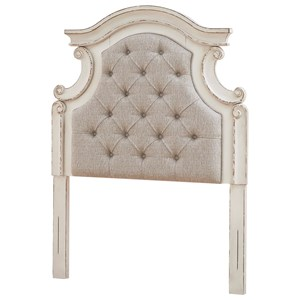 Twin Upholstered Panel Headboard with Button Tufting