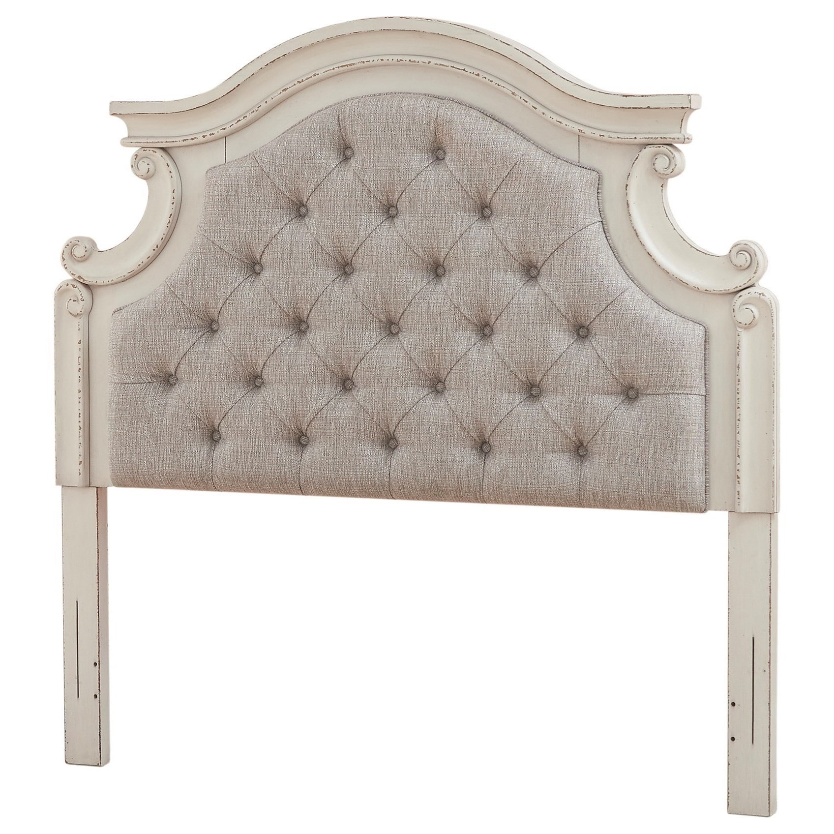 Realyn Queen Upholstered Panel Headboard by Signature Design by Ashley at Westrich Furniture & Appliances
