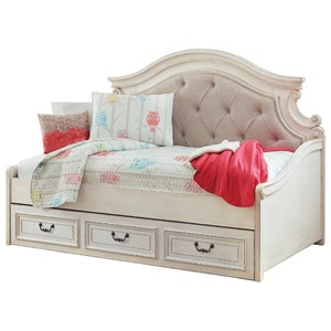 Twin Upholstered Day Bed with Under Bed Storage