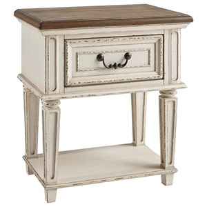Two-Tone 1-Drawer Nightstand