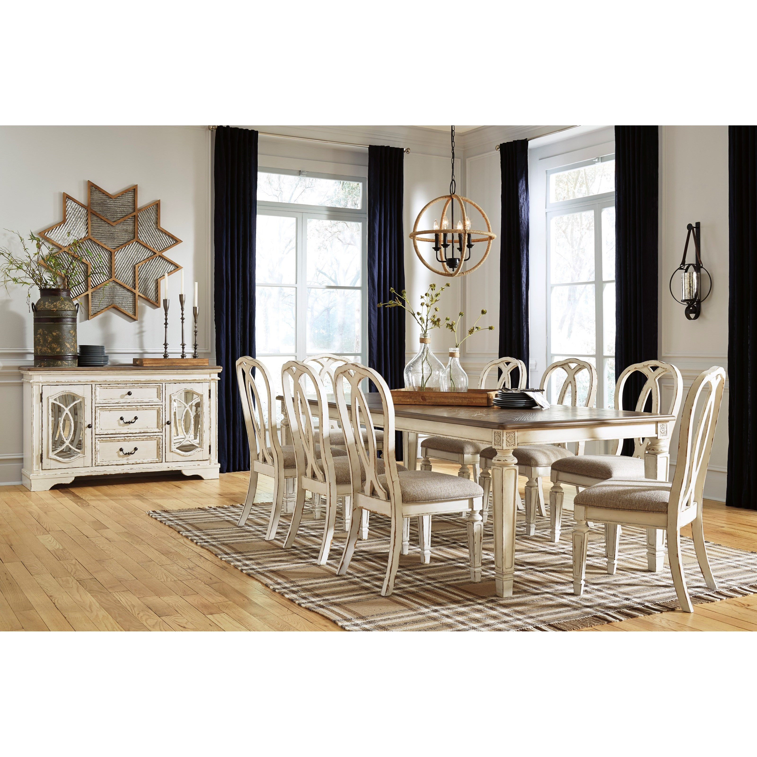 Realyn Formal Dining Room Group by Signature Design by Ashley at Northeast Factory Direct