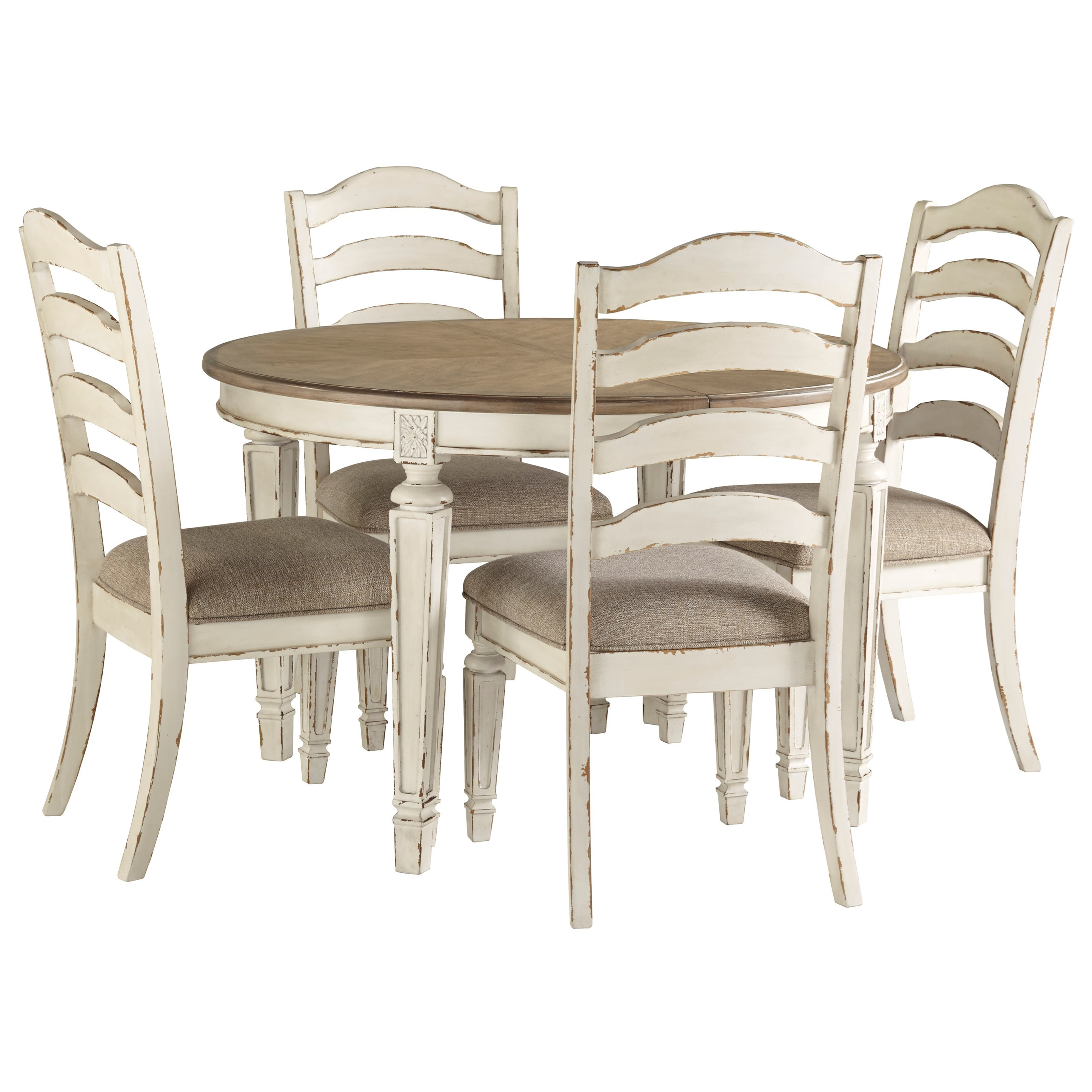 Realyn 5-Piece Table and Chair Set by Signature Design by Ashley at Northeast Factory Direct