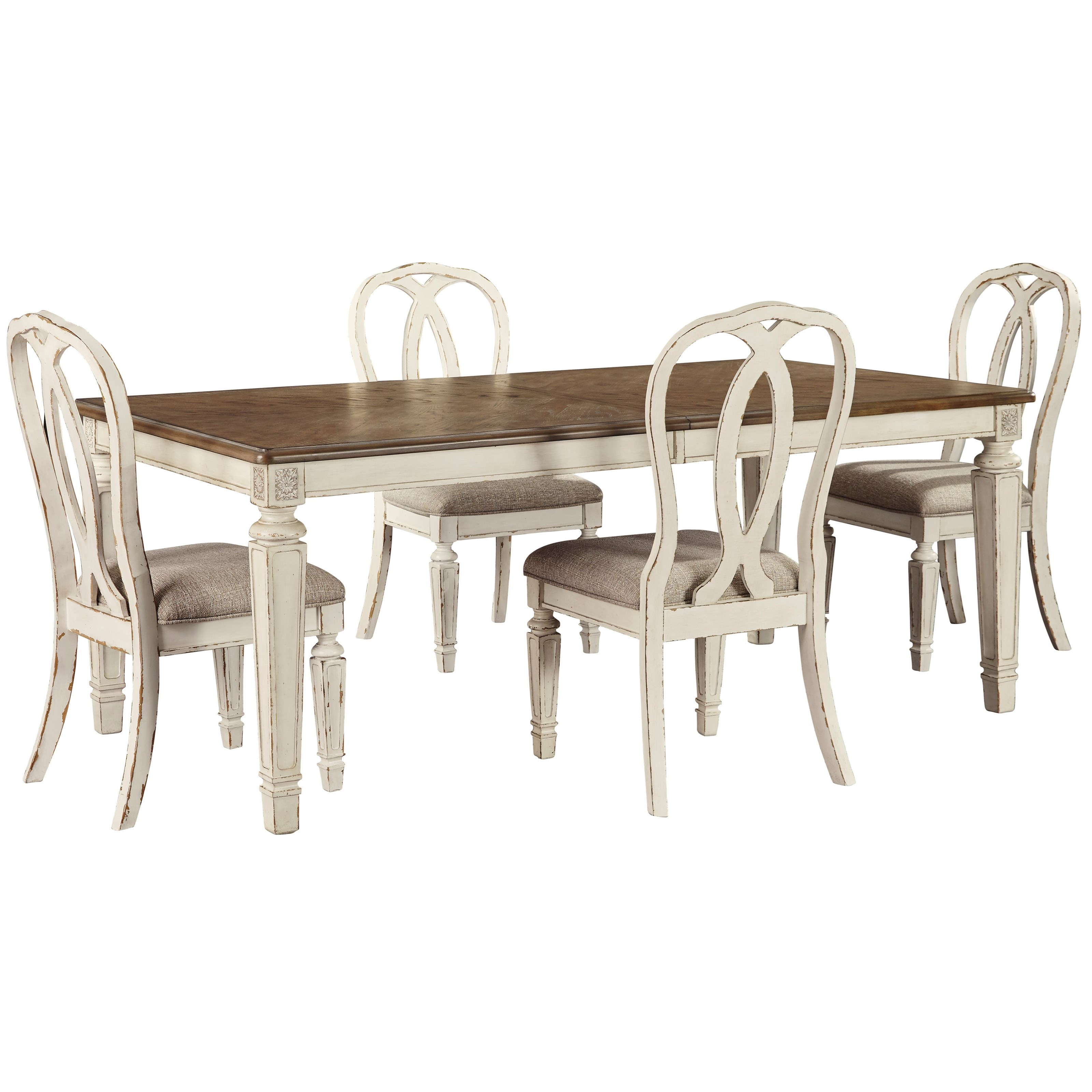 Realyn 5-Piece Rectangular Table and Chair Set by Ashley (Signature Design) at Johnny Janosik