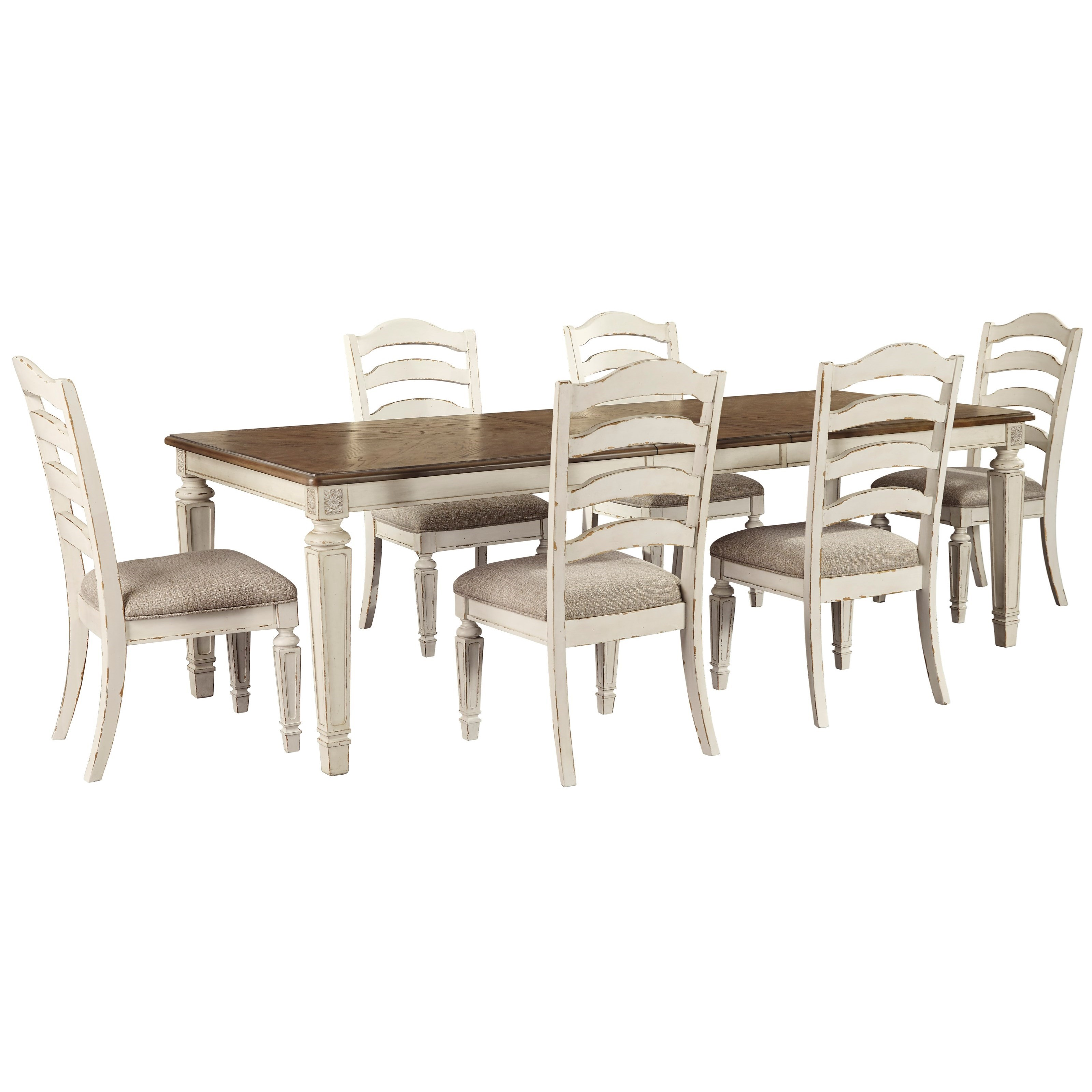 Realyn 7 Piece Dining Set by Signature Design by Ashley at HomeWorld Furniture