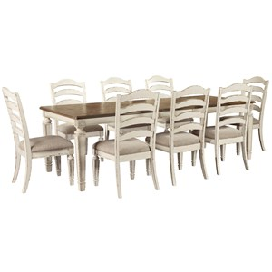 9 Piece Rectangular Table and Chair Set