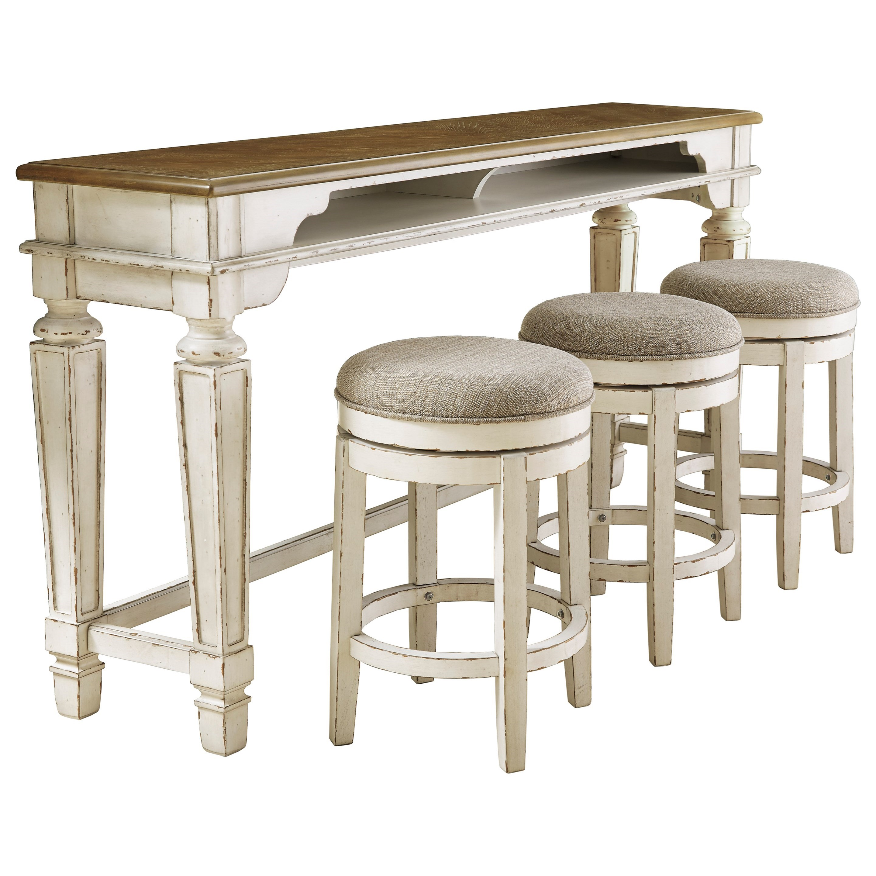 Long Counter Table w/ 3 Stools