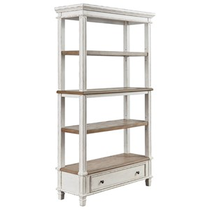 Open Shelf Bookcase with Drawer