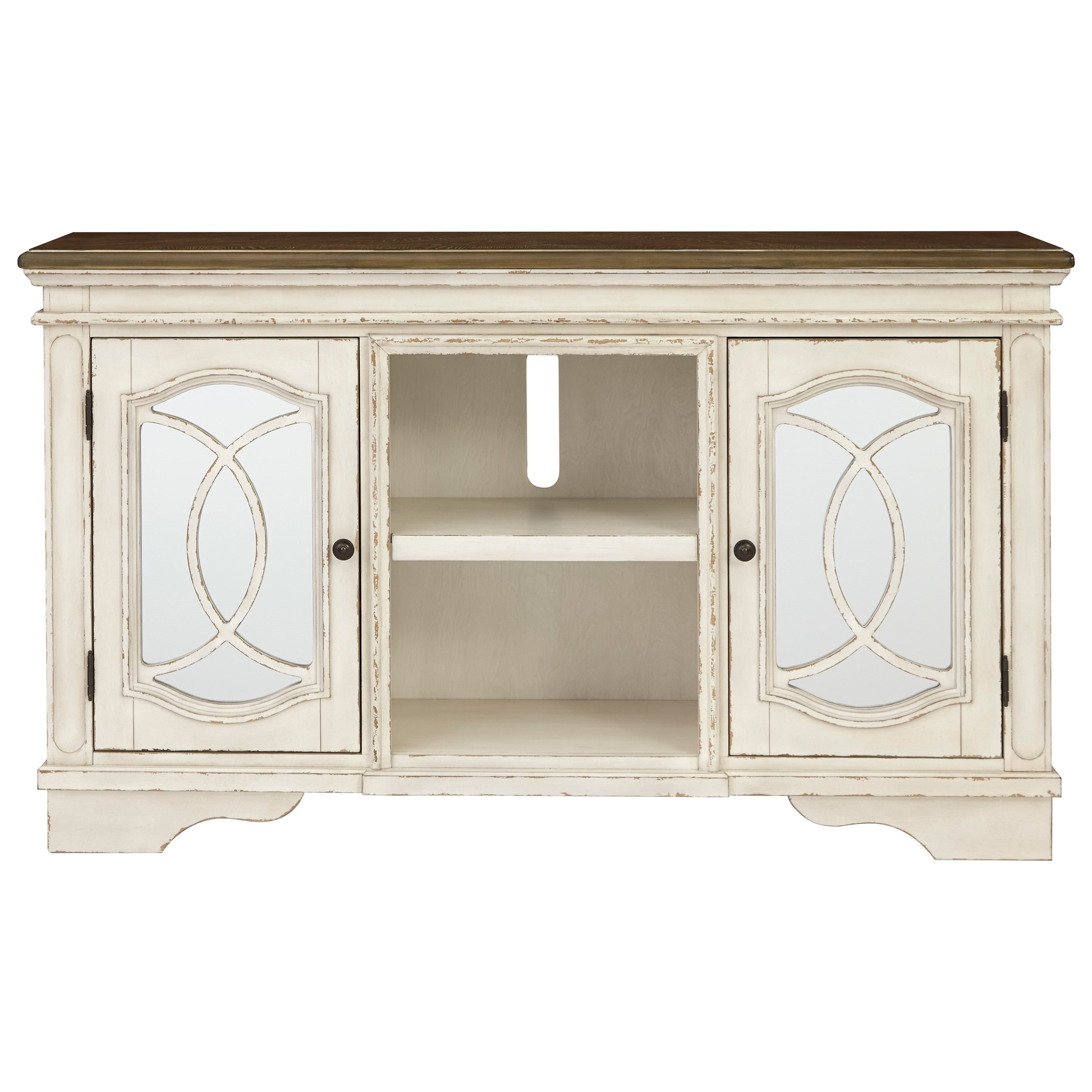 Realyn Large TV Stand by Signature Design by Ashley at Beck's Furniture
