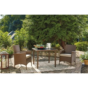 3-Piece Square Dining Table Set