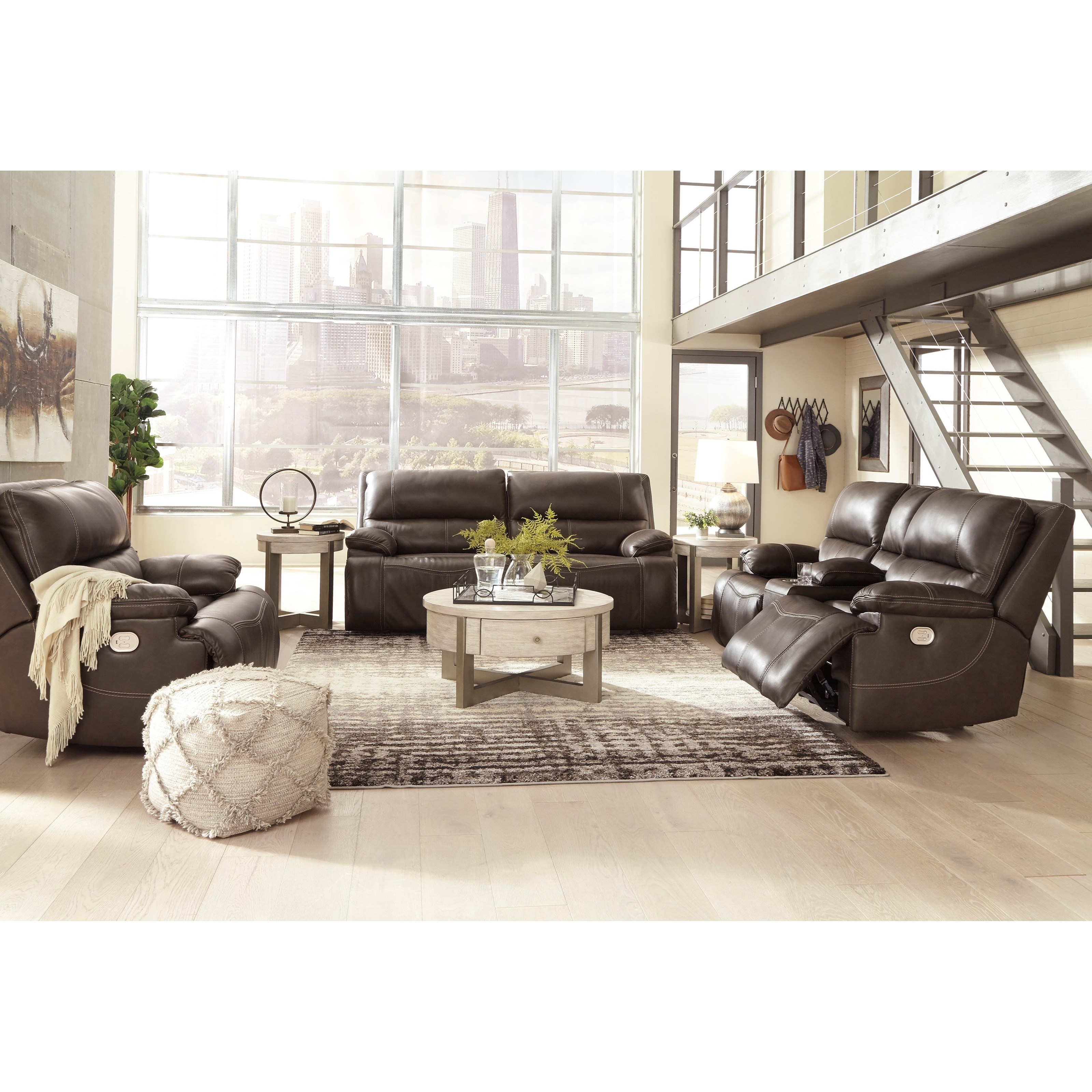 Ricmen Power Reclining Living Room Group by Signature Design by Ashley at Zak's Warehouse Clearance Center