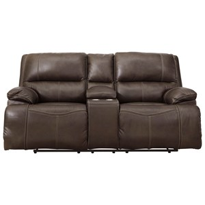 Power Reclining Loveseat w/ Adj. Headrests