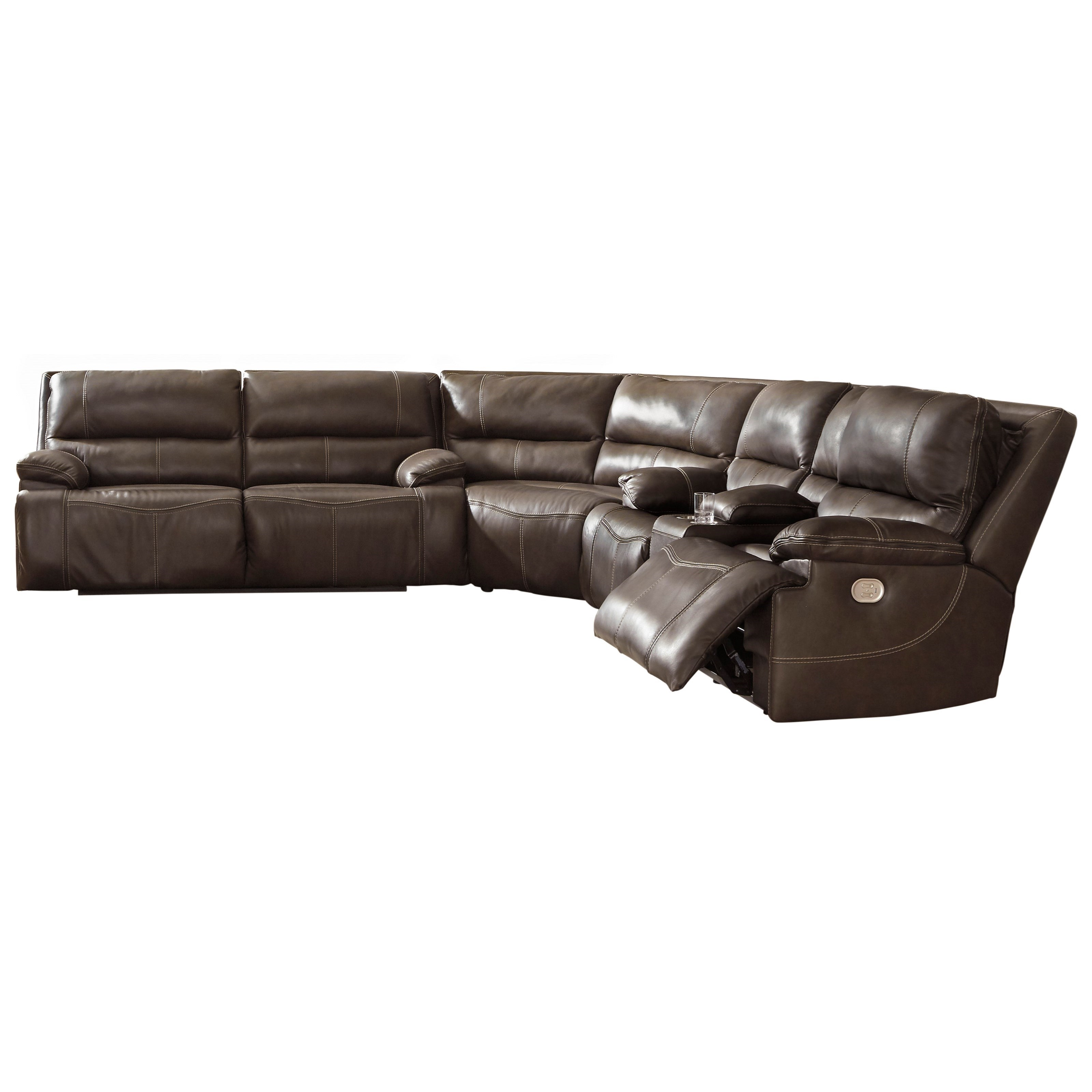 Ricmen 3-Piece Power Reclining Sectional by Signature Design by Ashley at Beck's Furniture