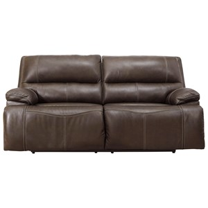 2-Seat Power Reclining Sofa w/ Adj Headrests