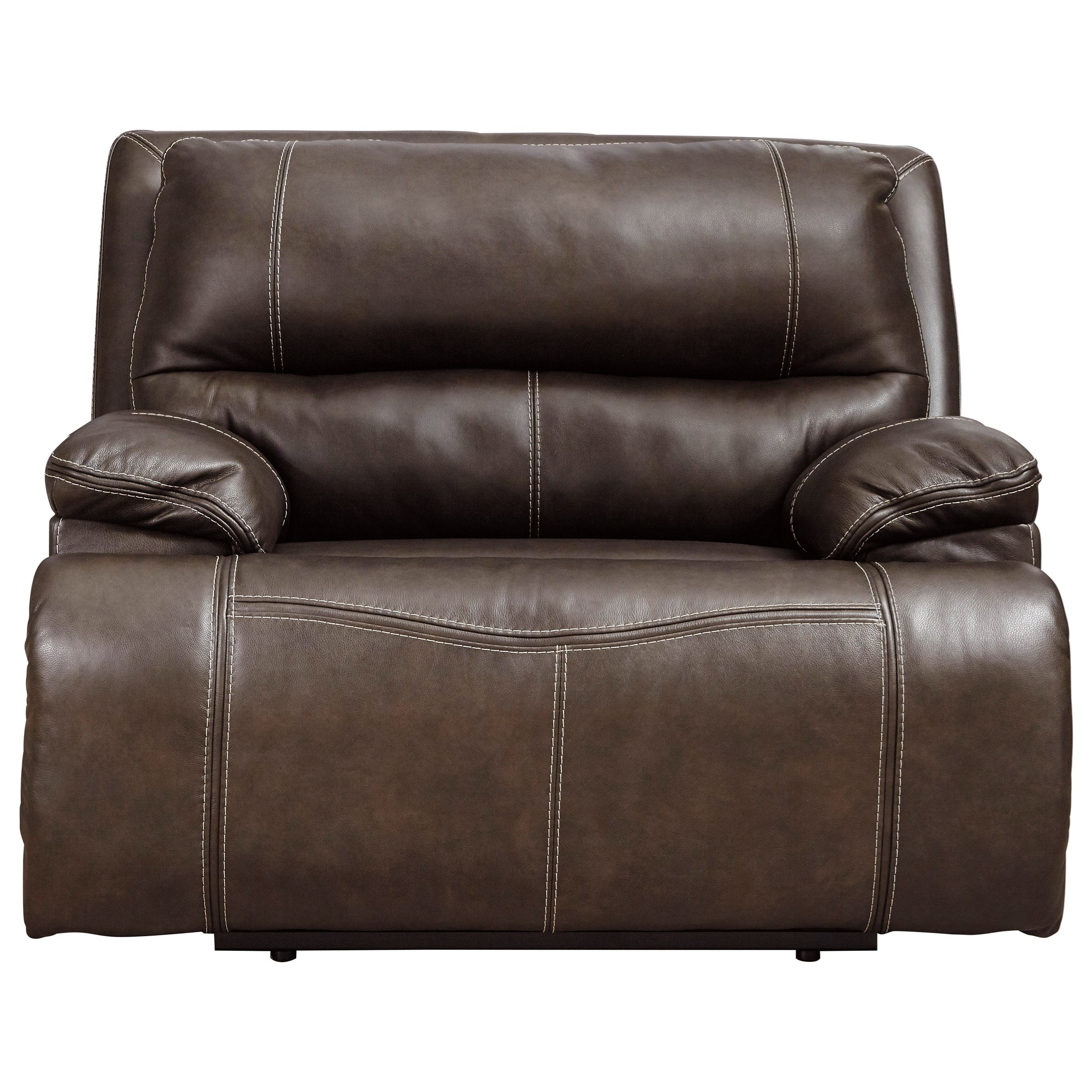 Ricmen Wide Seat Power Recliner by Signature Design by Ashley at Beck's Furniture