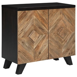 Contemporary 2-Door Accent Cabinet