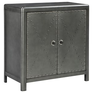 Industrial 2-Door Accent Cabinet
