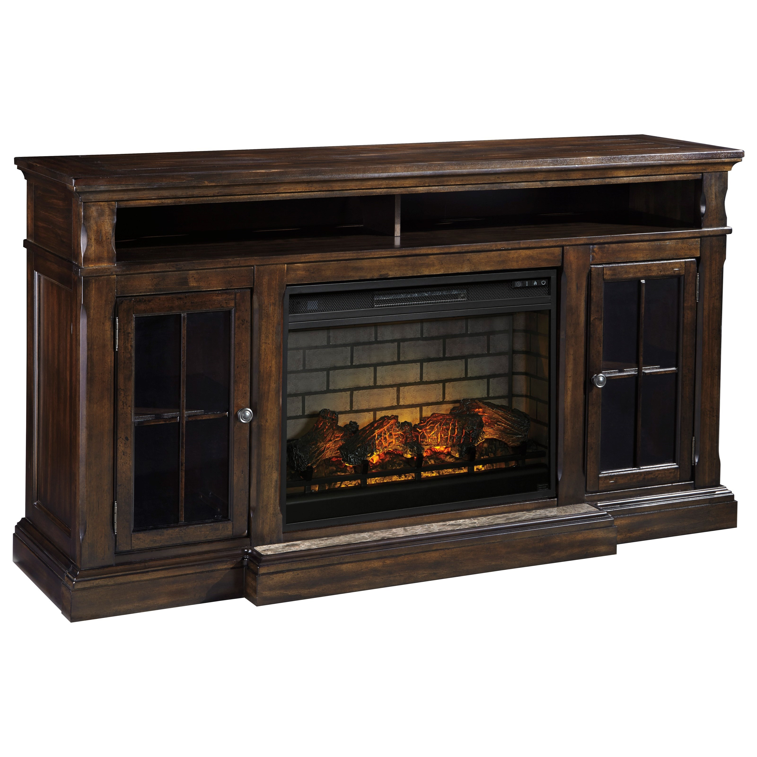 Roddinton Extra Large TV Stand with Fireplace Insert by Signature Design by Ashley at Darvin Furniture