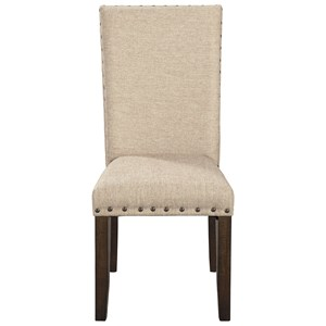 Upholstered Dining Side Chairs with Solid Wood Frame