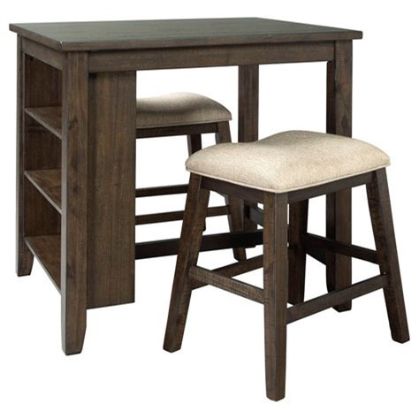 Rokane 3-Piece Rectangular Counter Table Set by Signature Design by Ashley at Darvin Furniture