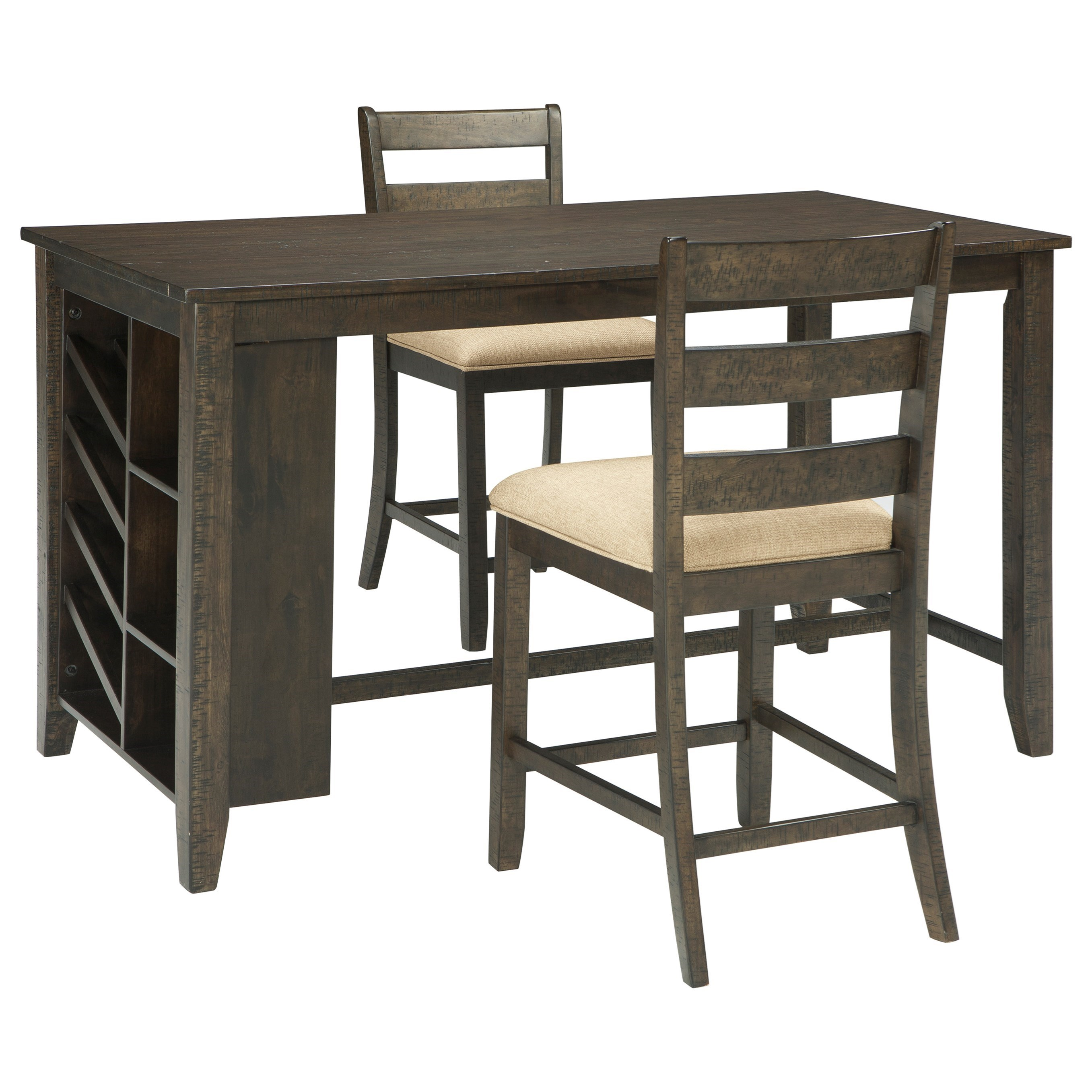 Rokane 3-Piece Rectangular Counter Table Set by Signature Design by Ashley at Northeast Factory Direct